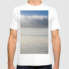 rays of light  MEDIUM White Mens Fitted Tee
