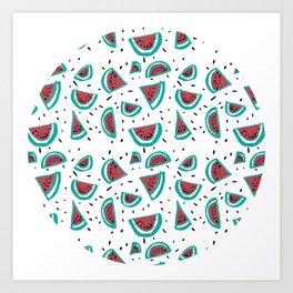 Watermelon Fiesta! Art Print