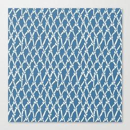 Fishing Net Blue Canvas Print