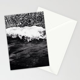 Hawaii wave art Stationery Cards