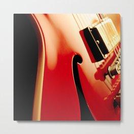Jazz Guitar Closeup Metal Print
