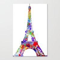 eiffel tower Canvas Prints featuring Eiffel Tower  by ron ashkenazi