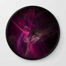 Pink swirl Wall Clock