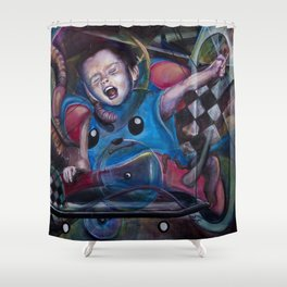 Evan of the Universe Shower Curtain