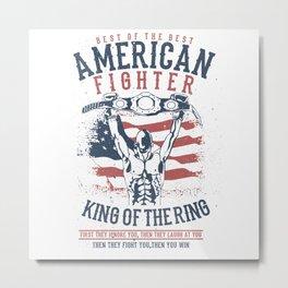 American Fighter Metal Print