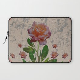SHABBY CHIC CORAL ANTIQUE PINK ROSES Laptop Sleeve