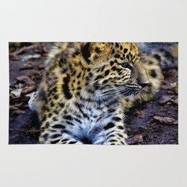 Endangered Amur Leopard Cub Rug