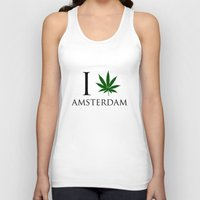 amsterdam Tank Tops featuring Amsterdam  by mark ashkenazi