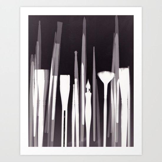 Paintbrush Photogram Art Print