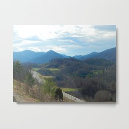 Blue Ridge Mountain View Metal Print