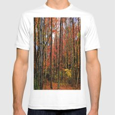 Sometimes the Trees Scream White MEDIUM Mens Fitted Tee