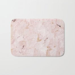 abstract-soft pink Bath Mat