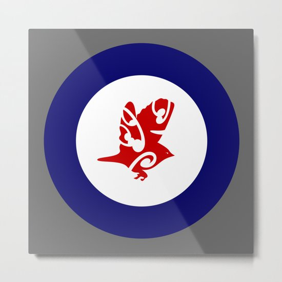 Silvereye Air Force Roundel Metal Print