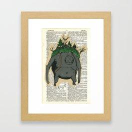 Mt. Giant & His Horse Framed Art Print