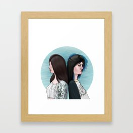 KENDALL AND KYLIE Framed Art Print