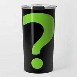 Enigma - green question mark Travel Mug