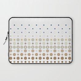 Dot Escalation // Taupe + Blues Laptop Sleeve