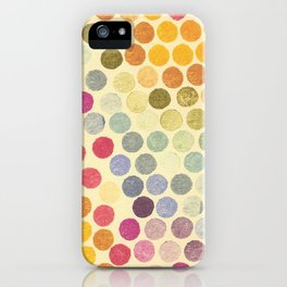 Stamp Dots iPhone Case