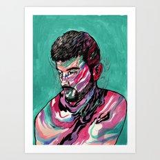 Few colors Left Art Print