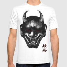 Hannya (Japanese Culture) Mens Fitted Tee LARGE White