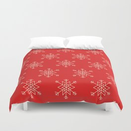 Seamless pattern with snowflakes Duvet Cover