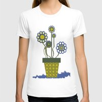 leah flores T-shirts featuring Flores by Constant