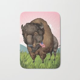American Bison Bath Mat