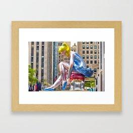 Seated Ballerina at Rockefeller Center 1 Framed Art Print
