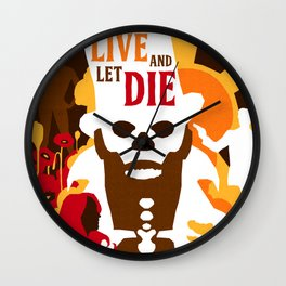 James Bond Golden Era Series :: Live and Let Die Wall Clock
