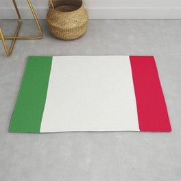 Italy flag emblem Rug