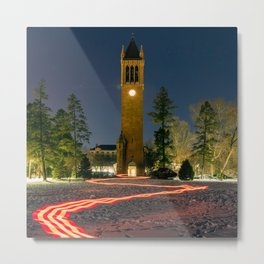 Neon Path to the Campanile (revisited) Metal Print