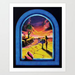 Trippy Psychedeic Surreal Art - Surreal Sunset by Vincent Monaco Art Print