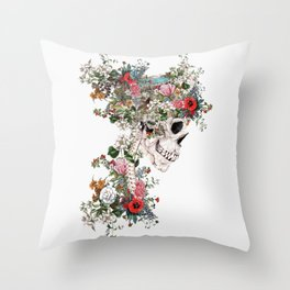 Skull Queen Throw Pillow
