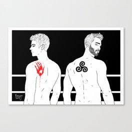 Sterek Hand Print Canvas Print