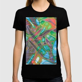 Colorful Abstract Stained Glass G299 T-shirt