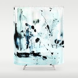 black meets white Shower Curtain