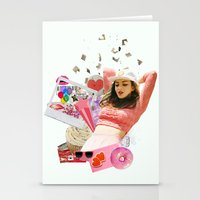 charli xcx Stationery Cards featuring Charli XCX by Kat Heroine