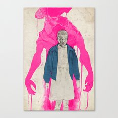 Stranger Things - Eleven & The Monster Canvas Print