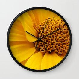 sunny yellow Wall Clock