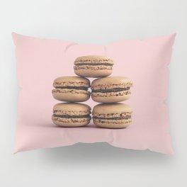 Macaroons on pink background Pillow Sham