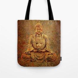 Sand Stone Sitting Buddha Tote Bag