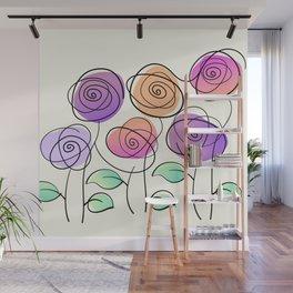 Half A Dozen Roses Wall Mural