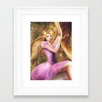 rapunzel Framed Art Prints featuring Rapunzel by Meder Taab