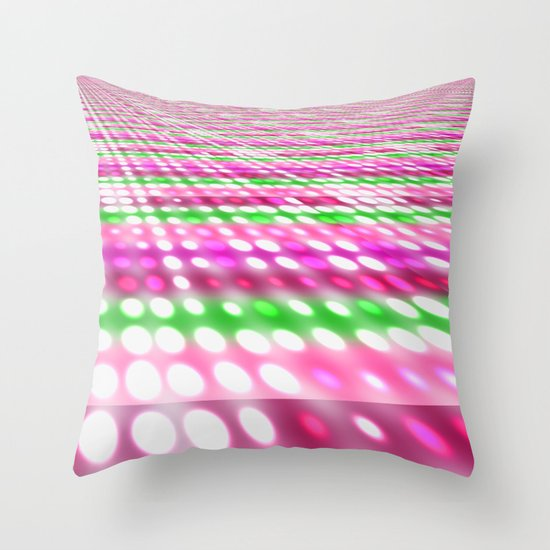 Purple and Dots Throw Pillow