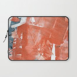 Interrupt [1]: a pretty minimal abstract acrylic piece in pink white and blue by Alyssa Hamilton Art Laptop Sleeve