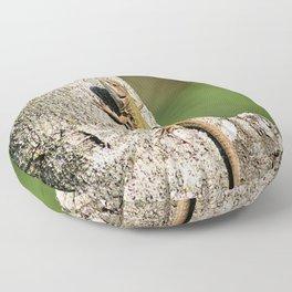 Lizard Sunning on Tree Branch Floor Pillow