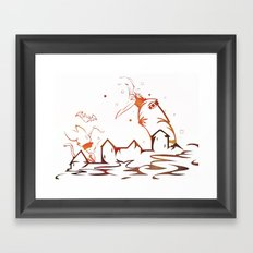 The Cat And The castle Framed Art Print