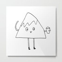Monty loves himself some shaved ice. Metal Print