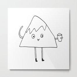 Monty loves himself some shaved ice. Metal Print