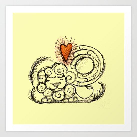 Love is in the air - 3 Art Print